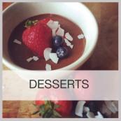 dessert menu frame